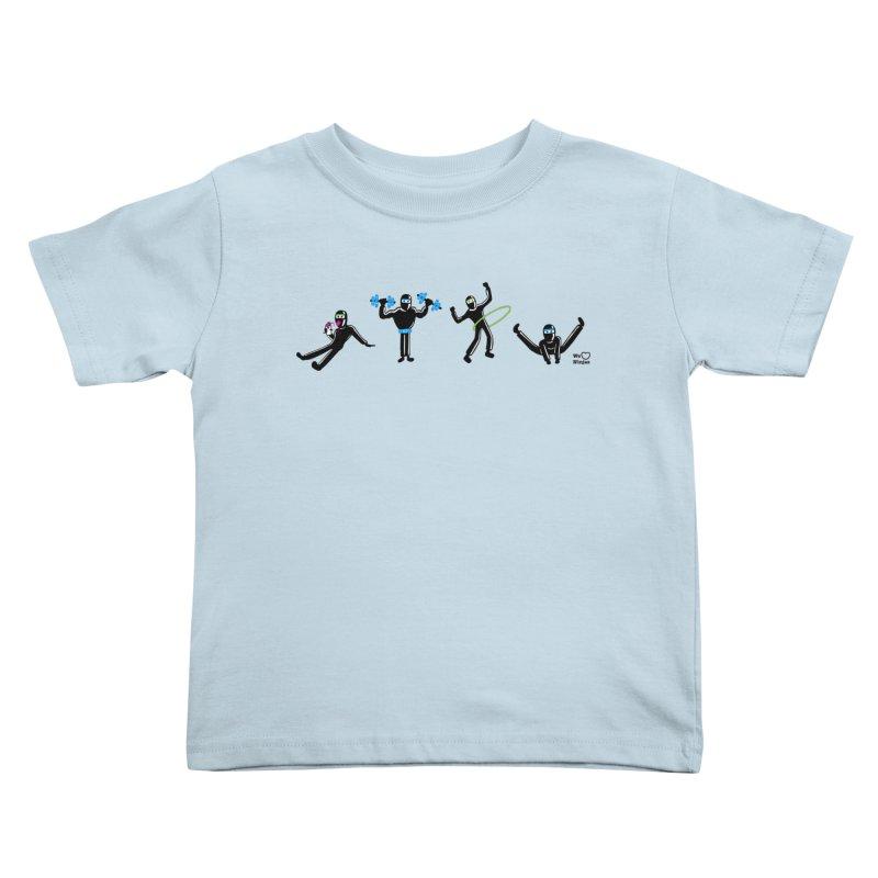 Ninjas getting physical! Kids Toddler T-Shirt by Weheartninjas's Artist Shop