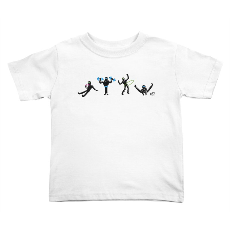 Ninjas getting physical! Kids Toddler T-Shirt by Weheartninjas's Artist Shop