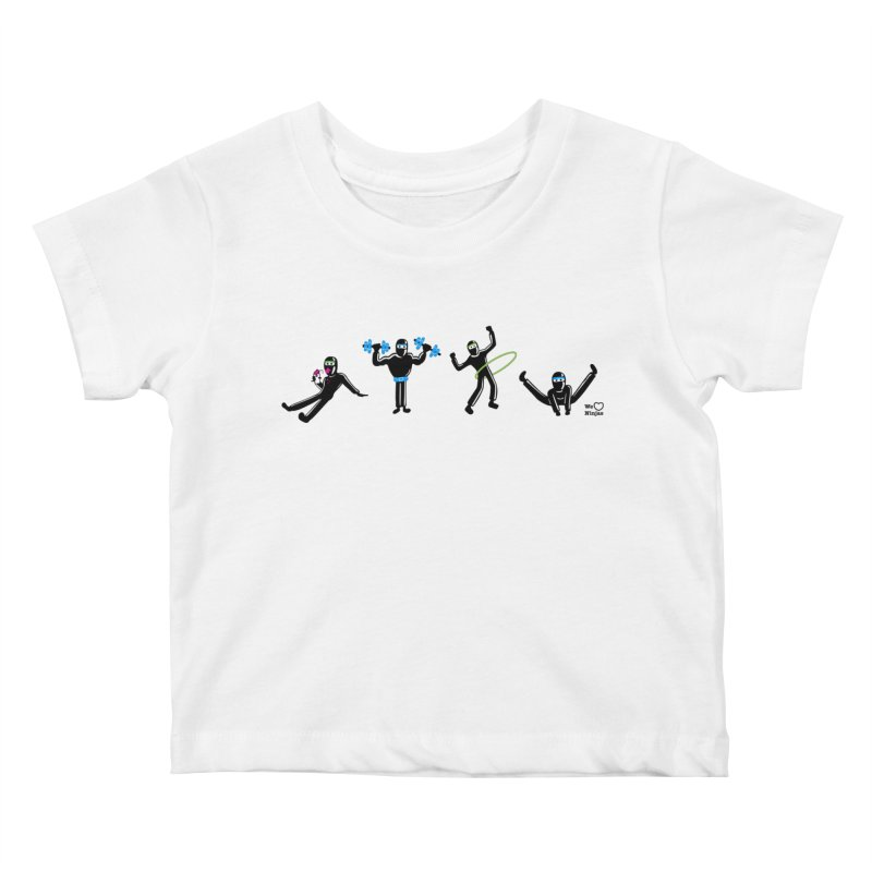 Ninjas getting physical! Kids Baby T-Shirt by Weheartninjas's Artist Shop