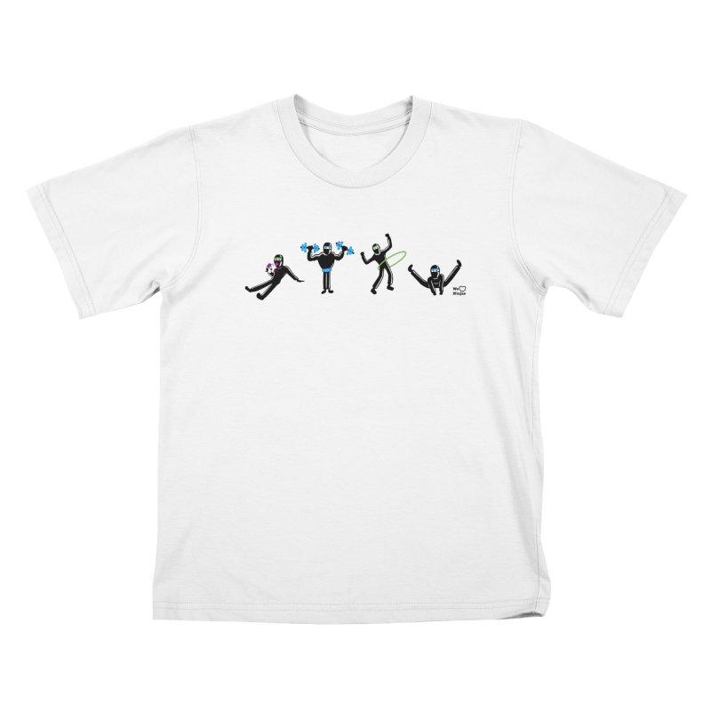 Ninjas getting physical! Kids T-shirt by Weheartninjas's Artist Shop