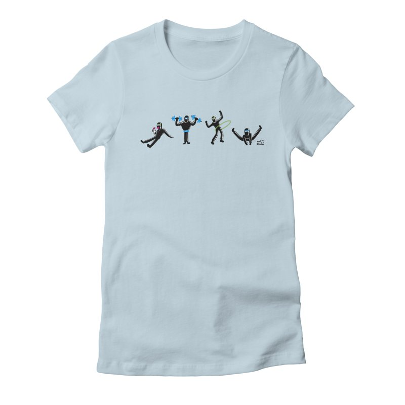 Ninjas getting physical! Women's Fitted T-Shirt by Weheartninjas's Artist Shop