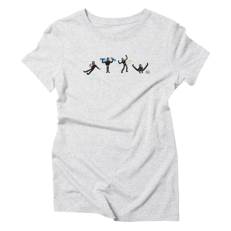Ninjas getting physical! Women's Triblend T-Shirt by Weheartninjas's Artist Shop