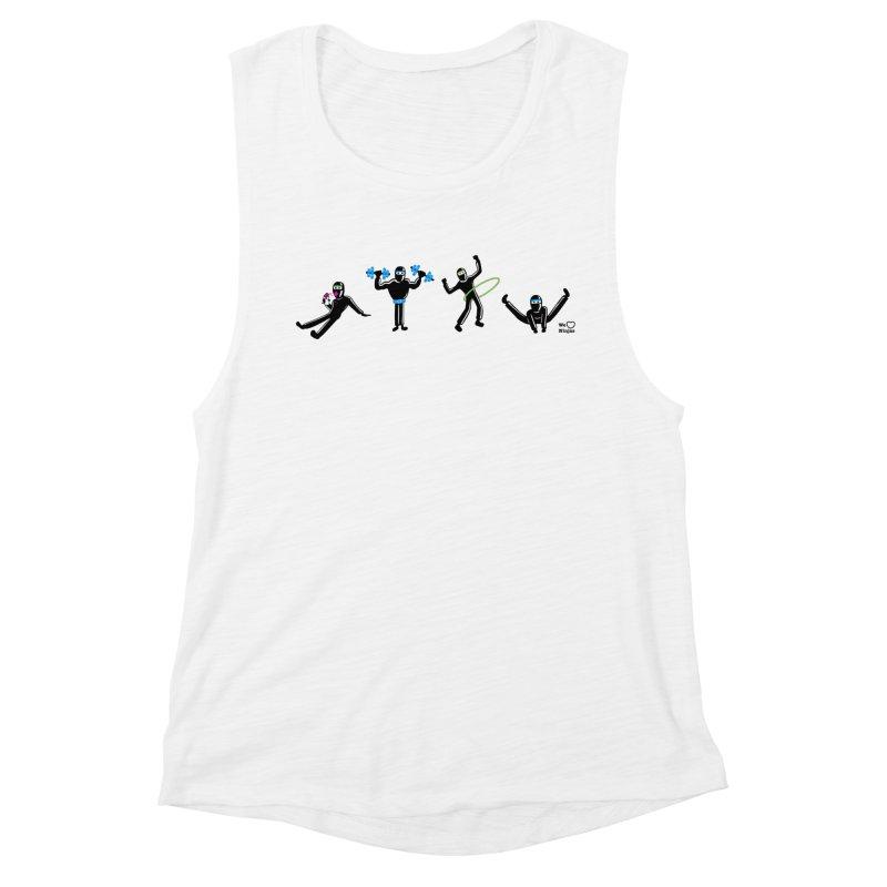 Ninjas getting physical! Women's Muscle Tank by Weheartninjas's Artist Shop