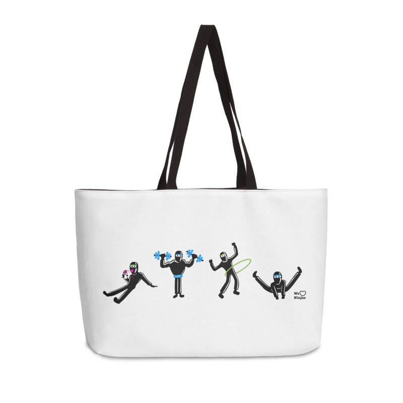 Ninjas getting physical! Accessories Weekender Bag Bag by Weheartninjas's Artist Shop