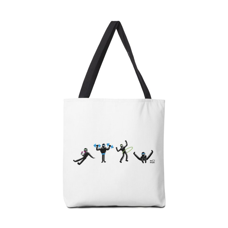 Ninjas getting physical! Accessories Bag by Weheartninjas's Artist Shop
