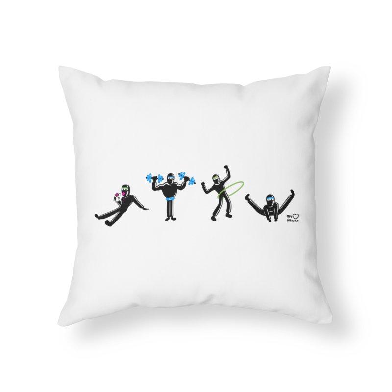 Ninjas getting physical! Home Throw Pillow by Weheartninjas's Artist Shop