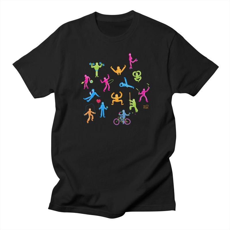 We Heart Ninjas in neon! Men's T-Shirt by Weheartninjas's Artist Shop