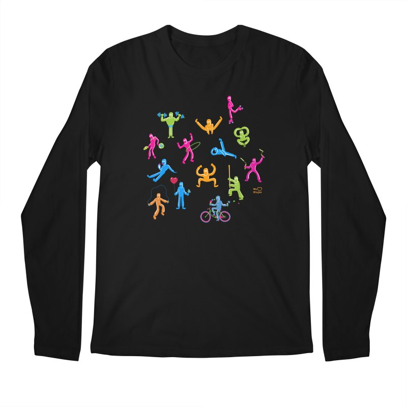 We Heart Ninjas in neon! Men's Longsleeve T-Shirt by Weheartninjas's Artist Shop