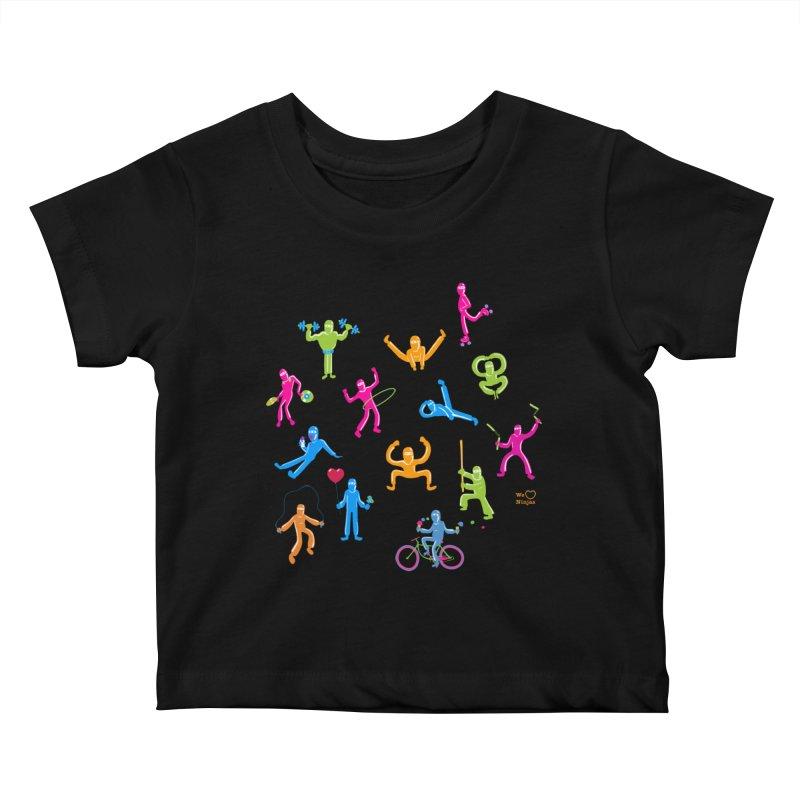 We Heart Ninjas in neon! Kids Baby T-Shirt by Weheartninjas's Artist Shop