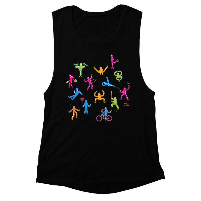 We Heart Ninjas in neon! Women's Muscle Tank by Weheartninjas's Artist Shop
