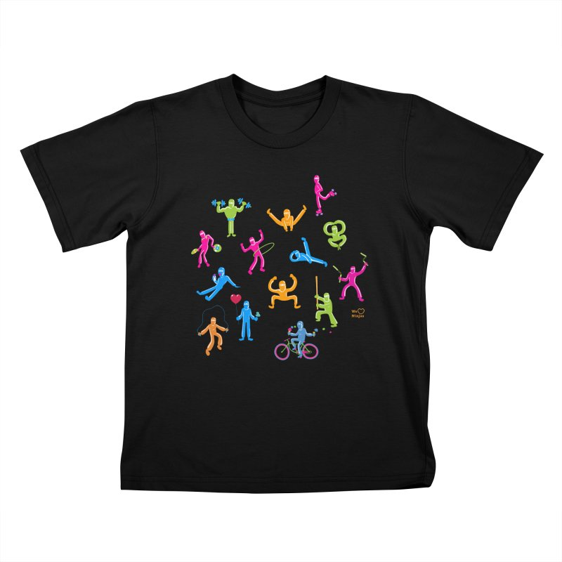 We Heart Ninjas in neon! Kids T-shirt by Weheartninjas's Artist Shop