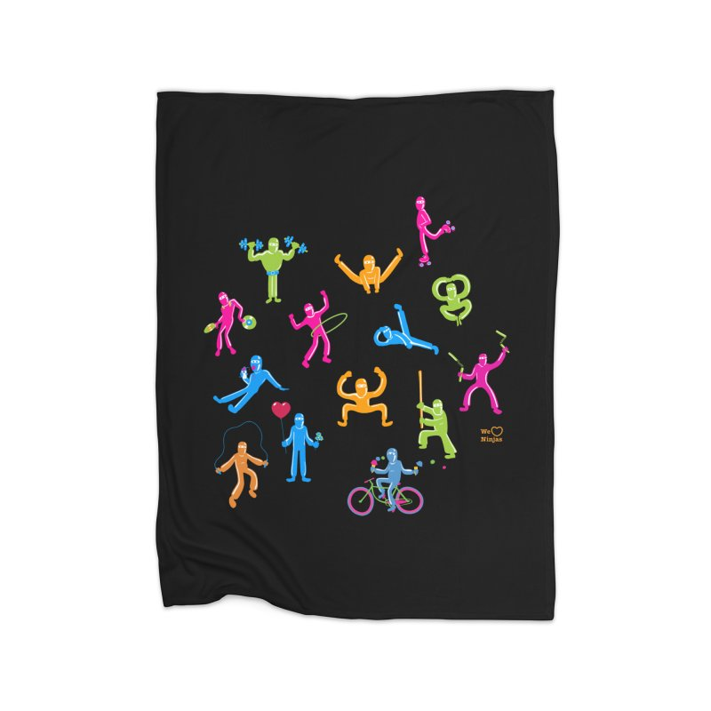 We Heart Ninjas in neon! Home Blanket by Weheartninjas's Artist Shop