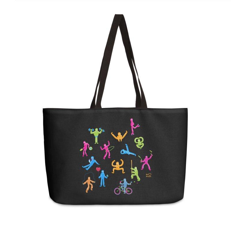 We Heart Ninjas in neon! Accessories Bag by Weheartninjas's Artist Shop