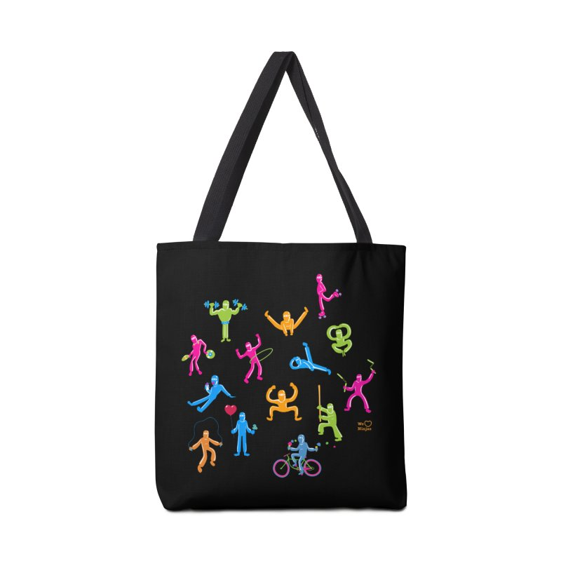 We Heart Ninjas in neon! Accessories Bag by Weheartninjas's Artist Shop