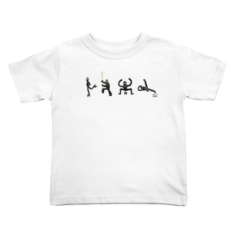 Four ninjas in a row! Kids Toddler T-Shirt by Weheartninjas's Artist Shop