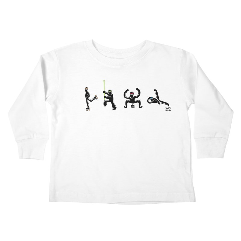 Four ninjas in a row! Kids Toddler Longsleeve T-Shirt by Weheartninjas's Artist Shop