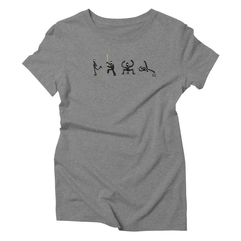 Four ninjas in a row! Women's Triblend T-Shirt by Weheartninjas's Artist Shop