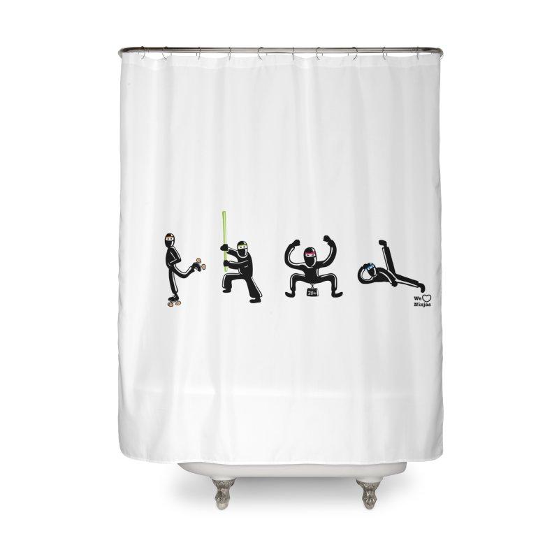 Four ninjas in a row! Home Shower Curtain by Weheartninjas's Artist Shop