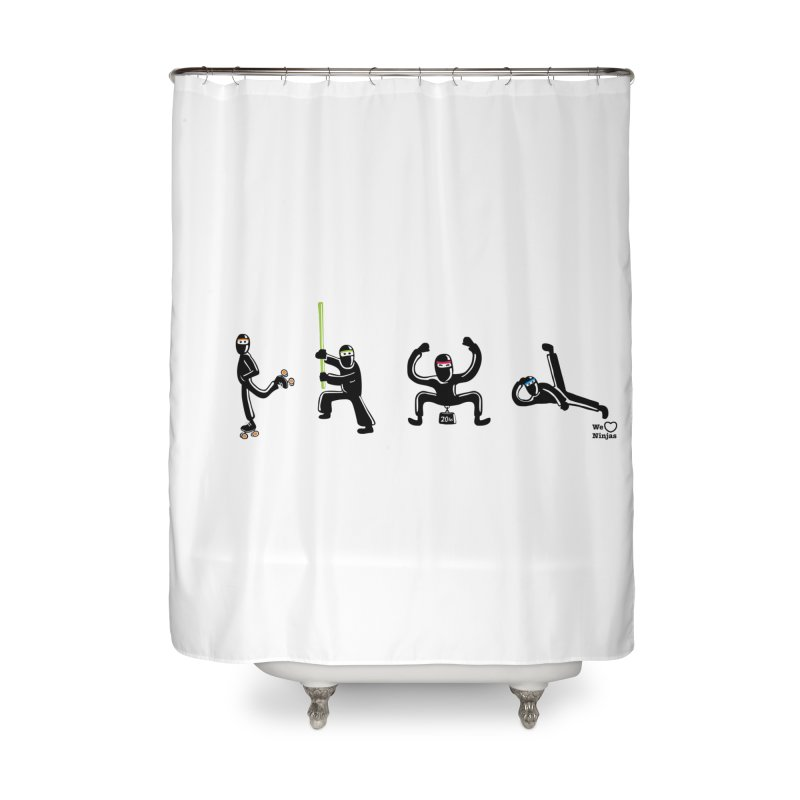 Four ninjas in a row! Home Shower Curtain by Weheartninjas's Artist Shop