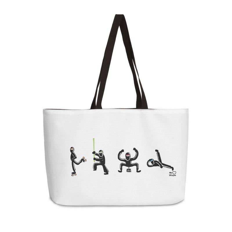 Four ninjas in a row! Accessories Weekender Bag Bag by Weheartninjas's Artist Shop