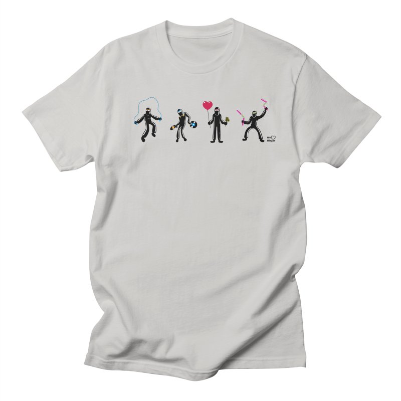Ninjas unite to make four ninjas! Men's Regular T-Shirt by Weheartninjas's Artist Shop