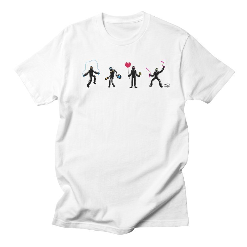 Ninjas unite to make four ninjas! Men's T-Shirt by Weheartninjas's Artist Shop