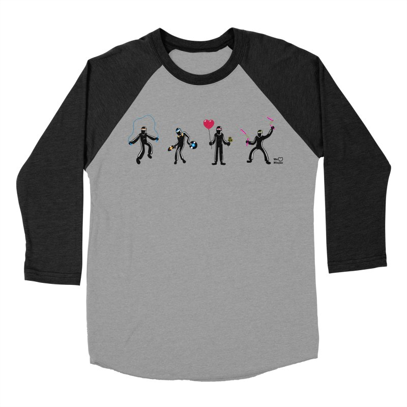 Ninjas unite to make four ninjas! Men's Baseball Triblend T-Shirt by Weheartninjas's Artist Shop