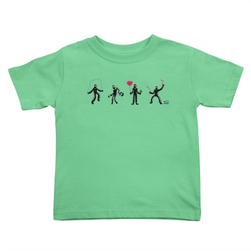 Ninjas unite to make four ninjas! Kids Toddler T-Shirt by Weheartninjas's Artist Shop