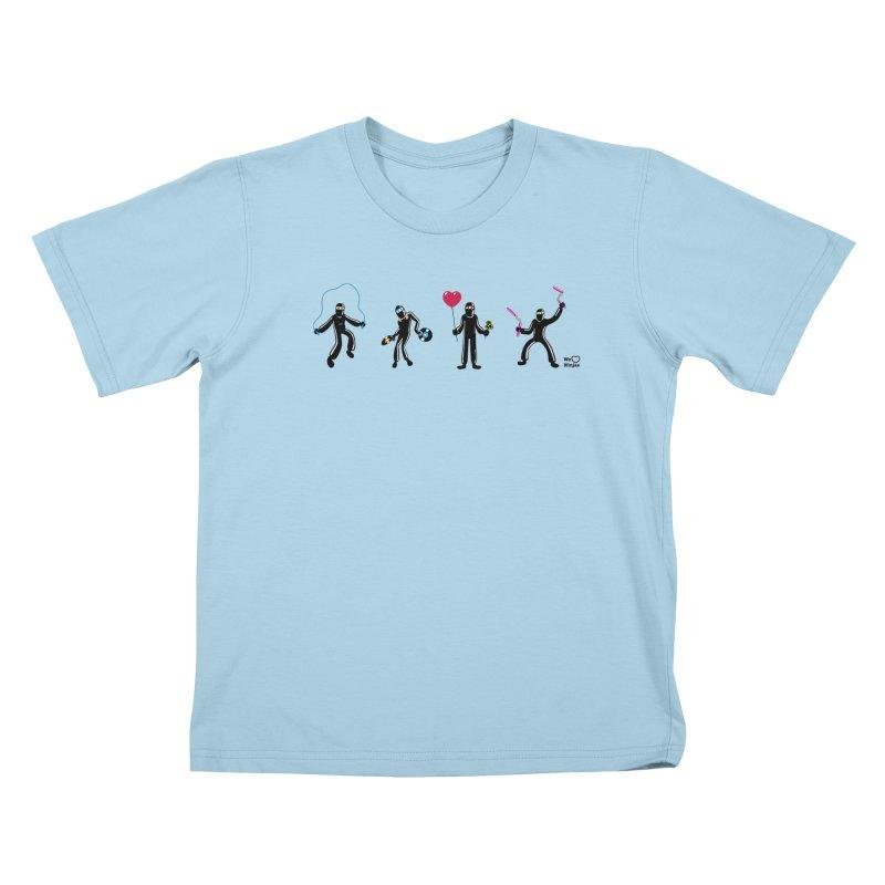 Ninjas unite to make four ninjas! Kids T-Shirt by Weheartninjas's Artist Shop