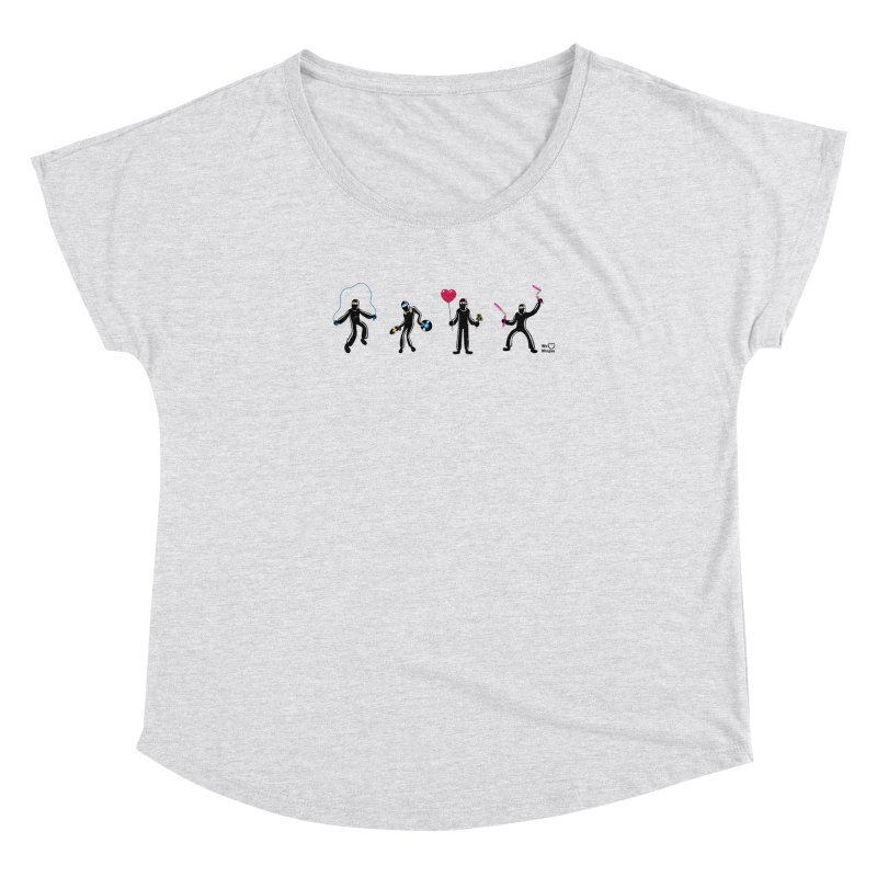 Ninjas unite to make four ninjas! Women's Dolman Scoop Neck by Weheartninjas's Artist Shop