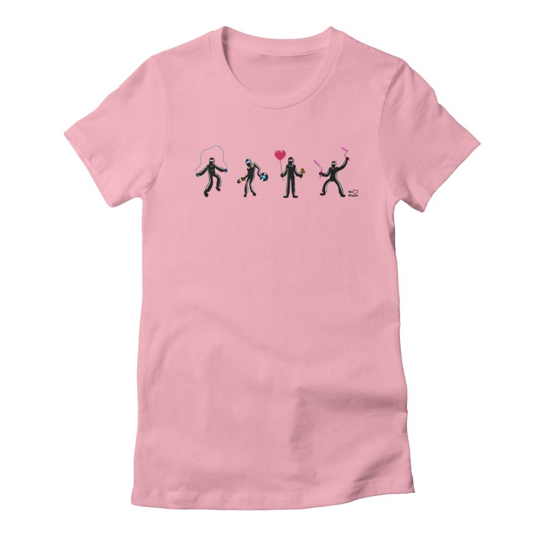Ninjas unite to make four ninjas! Women's Fitted T-Shirt by Weheartninjas's Artist Shop