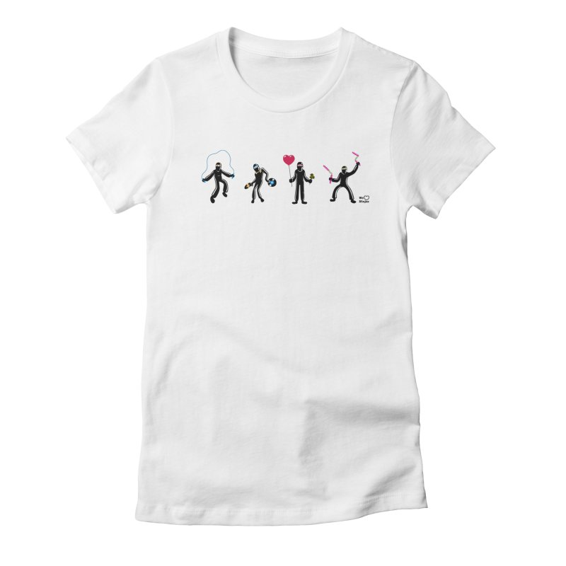 Ninjas unite to make four ninjas! Women's Fitted T-Shirt by Weheartninjas's Artist Shop