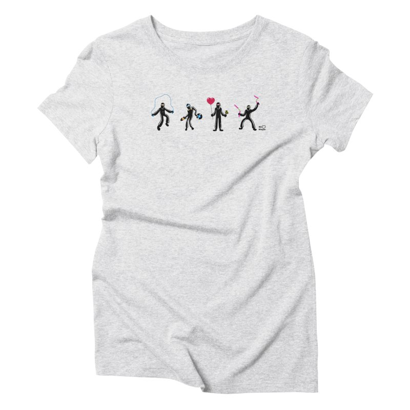 Ninjas unite to make four ninjas! Women's Triblend T-Shirt by Weheartninjas's Artist Shop