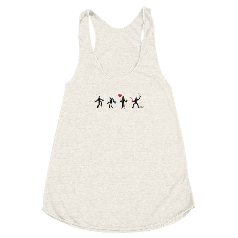Ninjas unite to make four ninjas! Women's Racerback Triblend Tank by Weheartninjas's Artist Shop