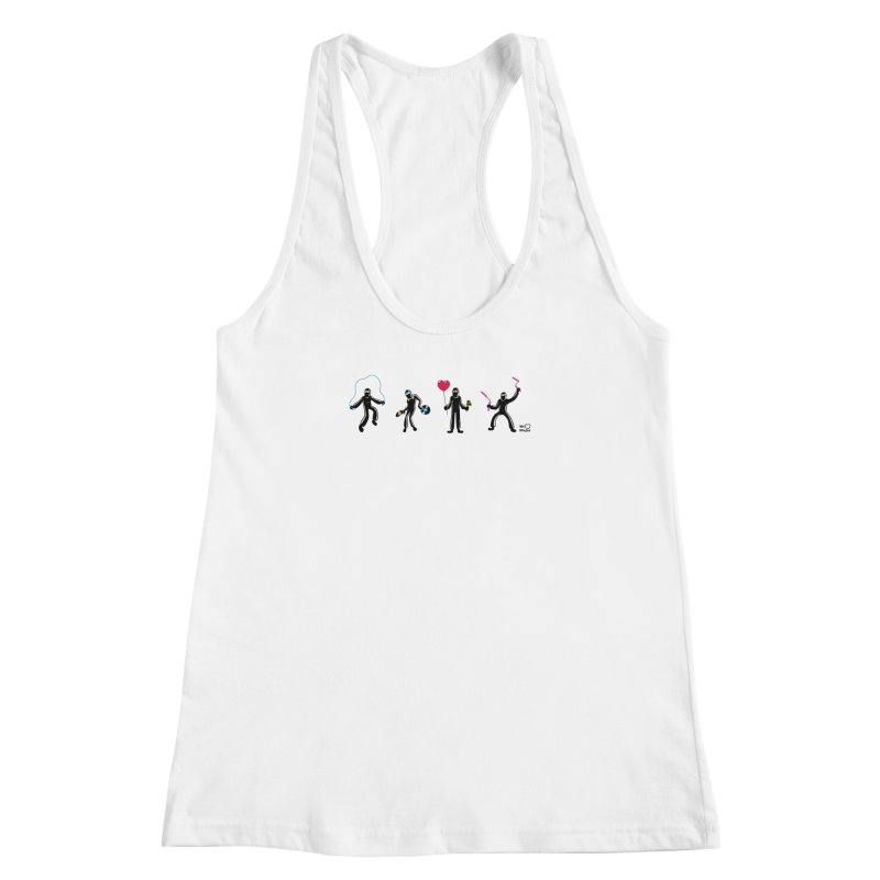 Ninjas unite to make four ninjas! Women's Racerback Tank by Weheartninjas's Artist Shop