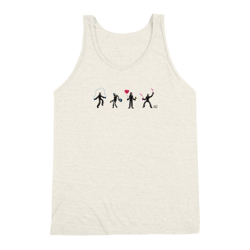 Ninjas unite to make four ninjas! Men's Triblend Tank by Weheartninjas's Artist Shop