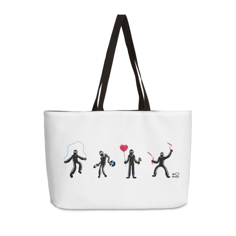 Ninjas unite to make four ninjas! Accessories Weekender Bag Bag by Weheartninjas's Artist Shop