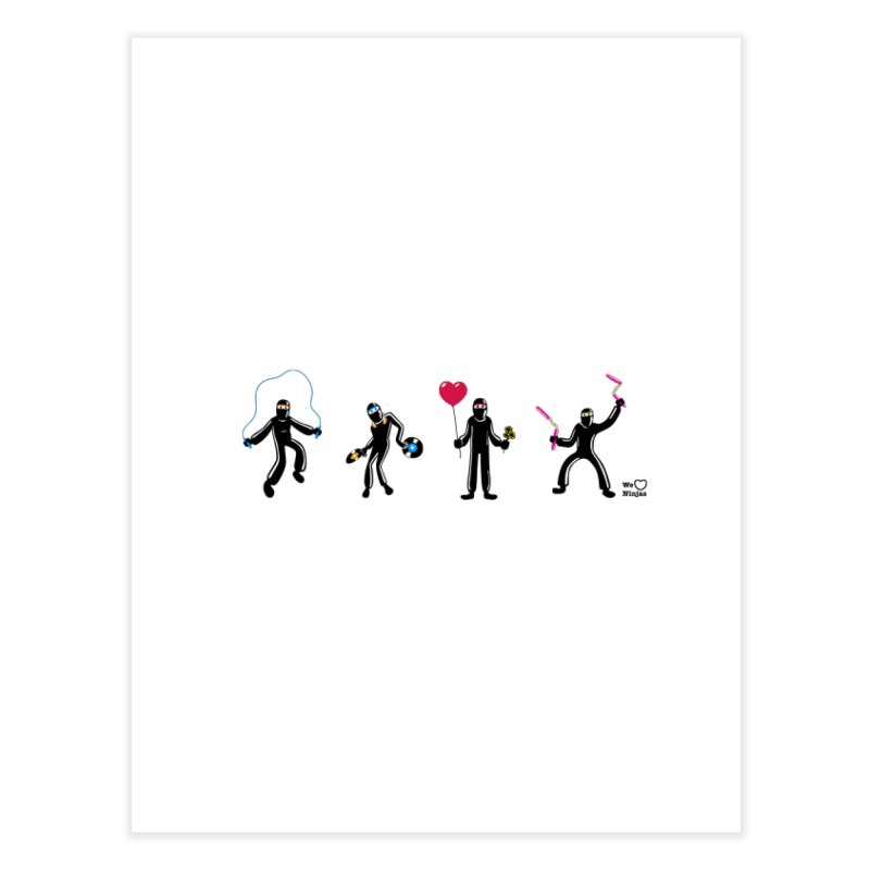 Ninjas unite to make four ninjas! Home Fine Art Print by Weheartninjas's Artist Shop