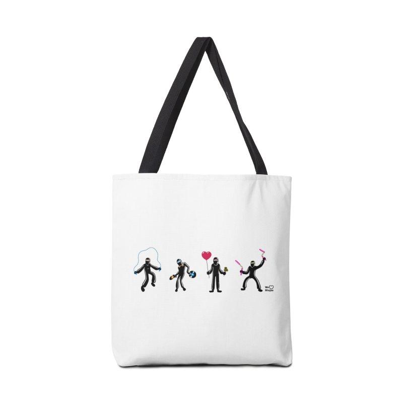 Ninjas unite to make four ninjas! Accessories Bag by Weheartninjas's Artist Shop