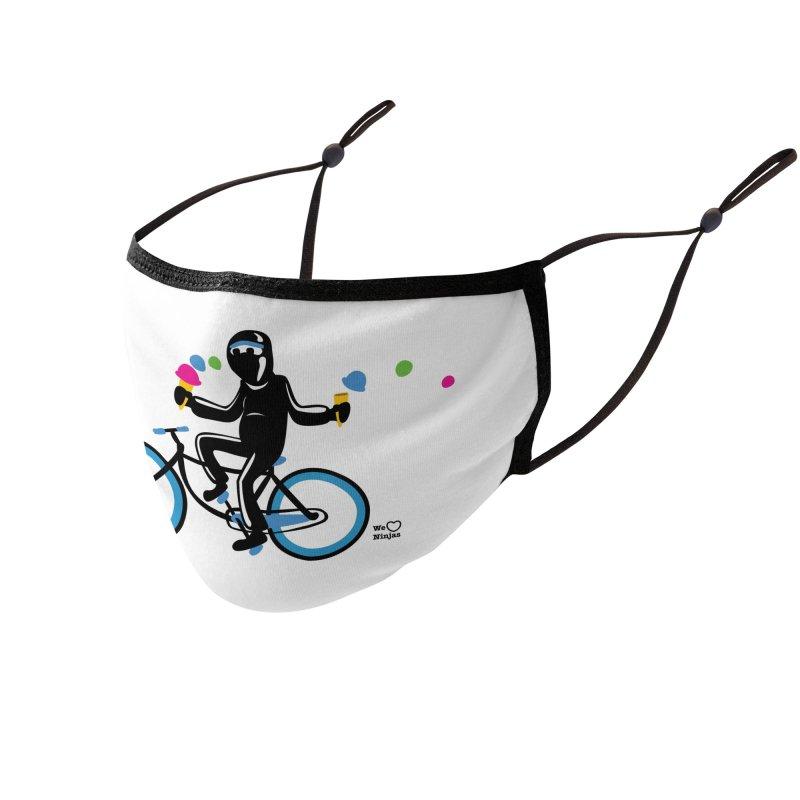 Ninja on a blue bike! Accessories Face Mask by Weheartninjas's Artist Shop