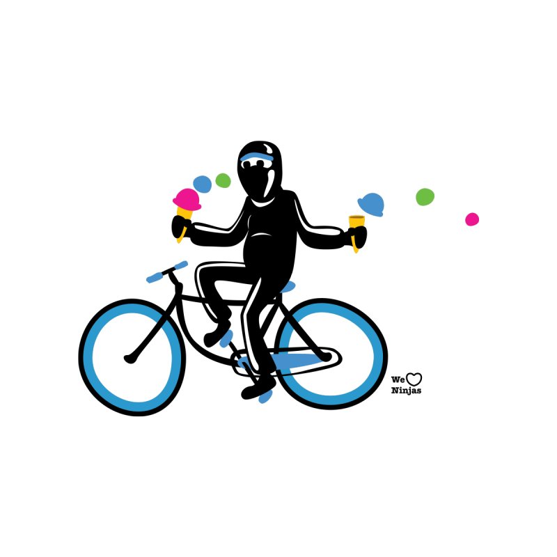 Ninja on a blue bike! Kids T-Shirt by Weheartninjas's Artist Shop