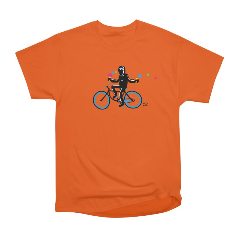 Ninja on a blue bike! Women's Classic Unisex T-Shirt by Weheartninjas's Artist Shop