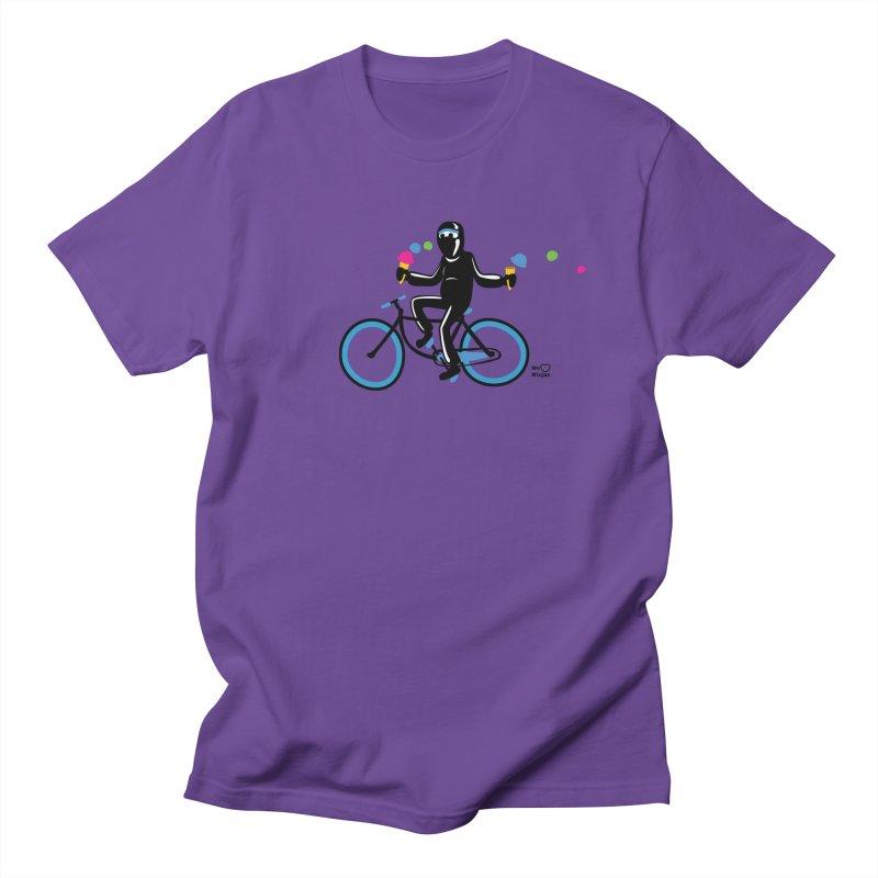 Ninja on a blue bike! Men's T-Shirt by Weheartninjas's Artist Shop