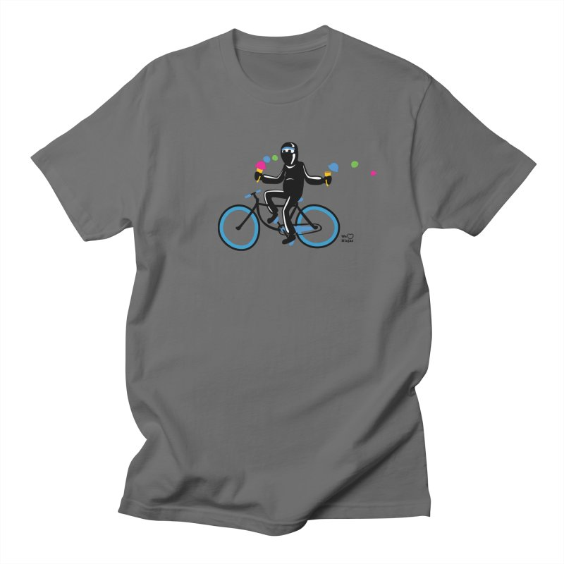 Ninja on a blue bike! Men's T-Shirt by Weheartninjas's Artist Shop