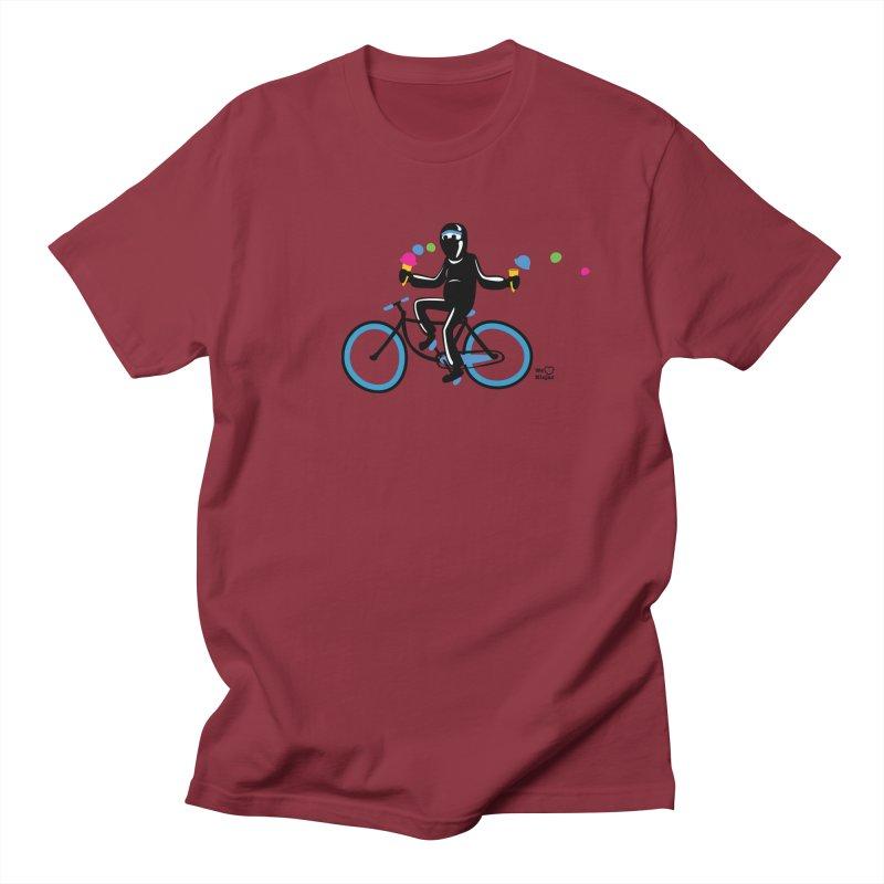 Ninja on a blue bike! Men's Regular T-Shirt by Weheartninjas's Artist Shop
