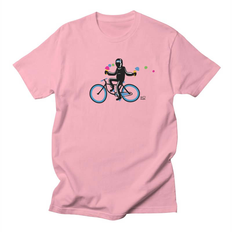 Ninja on a blue bike! Men's Regular T-Shirt by Weheartninjas's Artist Shop