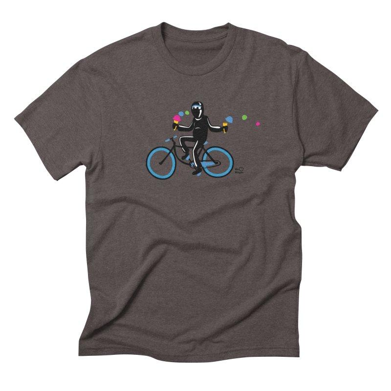 Ninja on a blue bike! Men's Triblend T-Shirt by Weheartninjas's Artist Shop