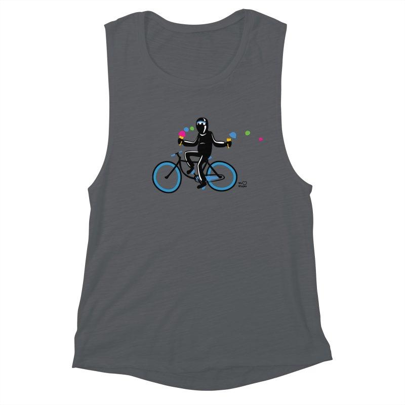 Ninja on a blue bike! Women's Tank by Weheartninjas's Artist Shop