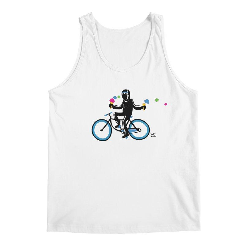 Ninja on a blue bike! Men's Regular Tank by Weheartninjas's Artist Shop