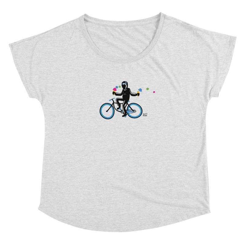 Ninja on a blue bike! Women's Dolman Scoop Neck by Weheartninjas's Artist Shop